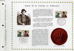 FEUILLET ARTISTIQUE PHILATELIQUE - PAC - 69 - 32 - LOUIS 11 ET CHARLES LE TEMERAIRE - COLLECTIF - 1969 - Lettres & Documents