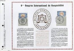 FEUILLET ARTISTIQUE PHILATELIQUE - PAC - 67 - 17 - 9° CONGRES INTERNATIONAL DE COMPTABILITE - COLLECTIF - 1967 - Lettres & Documents