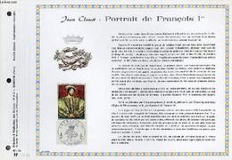 FEUILLET ARTISTIQUE PHILATELIQUE - PAC - 67 - 14 - JEAN CLOUET : PORTRAIT DE FRANCOIS 1° - COLLECTIF - 1967 - Lettres & Documents