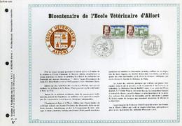 FEUILLET ARTISTIQUE PHILATELIQUE - PAC - 67 - 11 - BICENTENAIRE DE L'ECOLE VETERINAIRE D'ALFORT - COLLECTIF - 1967 - Lettres & Documents
