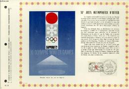 FEUILLET ARTISTIQUE PHILATELIQUE - PAC - 72 - 03 - 11° JEUX OLYMPIQUES D'HIVER - COLLECTIF - 1972 - Lettres & Documents