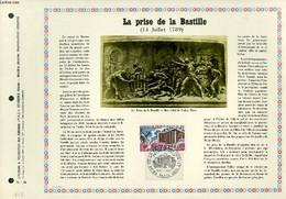 FEUILLET ARTISTIQUE PHILATELIQUE - PAC - 71 - 29 - LA PRISE DE LA BASTILLE (14 JUILLET 1789) - COLLECTIF - 1971 - Lettres & Documents