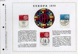 FEUILLET ARTISTIQUE PHILATELIQUE - PAC - 70 - 14 - EUROPA 1970 - COLLECTIF - 1970 - Lettres & Documents