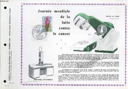 FEUILLET ARTISTIQUE PHILATELIQUE - PAC - 70 - 11 - JOURNEE MONDIALE DE LA LUTTE - COLLECTIF - 1970 - Lettres & Documents