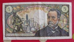 France. 5 Cinq Francs. Pasteur. 08/01/1970. Bel état - 5 NF 1959-1965 ''Victor Hugo''