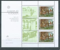 Madère Bloc-feuillet YT N°3 Europa 1982 Premiers Moulins à Sucre Neuf ** - 1982