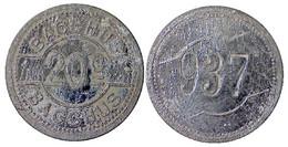 02937 GETTONE TOKEN JETON GAMING SLOT MACHINE BACCHUS 20C SILVERED - Unclassified
