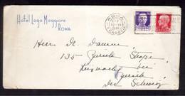 """WQ61    Regno 1936 - Lettera """"Hotel Lago Maggiore - Roma"""" Per Svizzera, Imperiale 50c.+ 75c. - Marcofilía"""