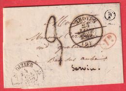 TAXE 3 FABRICATION LOCALE ST DIZIER HAUTE MARNE BOITE RURALE F ANCERVILLE MEUSE BAR SUR AUBE T13 TROYES ANNULE - 1801-1848: Precursors XIX