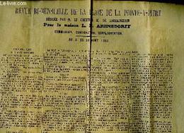 Revue Bi-mensuelle De La Place De Point-à-Pitre, 8 Au 21 Août 1905, Rédigée Pour La Maison L.E. Arensdorff. Commission, - Non Classificati