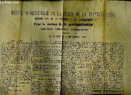 Revue Bi-mensuelle De La Place De Point-à-Pitre, Du 22 Août Au 4 Septembre 1905, Rédigée Pour La Maison L.E. Arensdorff. - Non Classificati