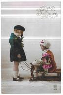 Poupée Fillettes Luge Bonne Année Edition RP 1416 - Games & Toys