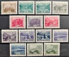 AUSTRIA 1932 - MLH - ANK 530-543 - Complete Set! - Kleine Landschaften - Ongebruikt