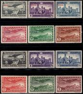 1931.MH.Ed:*614/619,630/635.Panamericana.2 Aéreas Series Con Y Sin Sobrecarga - 1931-50 Ungebraucht