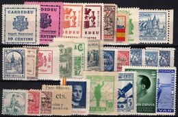 1936.Lote De Viñetas Locales Benéficas.Guerra Civil Española.Diversas Calidades - Verschlussmarken Bürgerkrieg