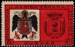 1936.MH.Fe:*47.Guerra Civil Española.Emisión Local Benéfica.Huévar.Beneficencia.¡Arriba España! - Verschlussmarken Bürgerkrieg