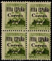 1936.MNH.Ed:**71hcc(4).Guerra Civil Española.Emisión Local Patriótica.Burgos.60 Cts Verde Oliva S/c Negra.Cambio De Colo - Verschlussmarken Bürgerkrieg