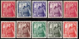 1948.MNH.Ed:**1024/1032,1028A.General Franco Y Castillo De Mota.Serie Completa.10 Valores - 1931-50 Ungebraucht