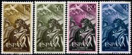1956.MNH.Ed:**1187/1190.XX Aniversario Alzamiento Nacional.Serie Completa - 1951-60 Ungebraucht