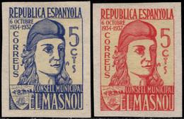 1936.MNG.Fe:(*)23/24.Guerra Civil Española.Emisión Local Benéfica.El Masnou.CONSELL MUNICIPAL.Serie Completa - Verschlussmarken Bürgerkrieg
