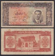 IRAN - 20 RIALS (1951) Sign 2 Pick 51 F (4)    (27556 - Otros – Asia