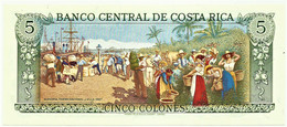 Costa Rica - 5 Colones - 4.10.1989 - Pick 236.d - Unc. - VERY BEAUTIFUL - Rafael Yglesias Castro - Costa Rica