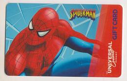 Gift Card Spiderman Universal Orlando Resort (plastic) - Gift Cards