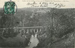 """/ CPA FRANCE 89 """"Vallée De La Cure, Vue Sur La Château De Chastellux"""" / TIMBRE PERFORE CL - Sonstige Gemeinden"""