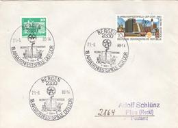 DDR Beleg Mit Sonderstempel Bergen Arbeiterfestspiele 1980 - Poststempel - Freistempel