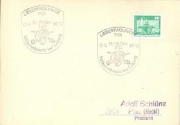 DDR Beleg Mit Sonderstempel Liebertwolkwitz Völkerschlacht 1983 - Machine Stamps (ATM)