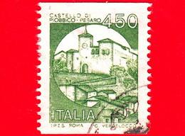 ITALIA - Usato - 1985 - Castelli D'Italia - Valori Complementari - Castello Di Piobbico - 450 - 1981-90: Usados