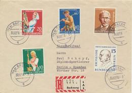 BRD 297/300 + Berlin 166 Auf R-Brief - Covers & Documents