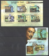 BC1010 2011 MOZAMBIQUE MOCAMBIQUE ART SALVADOR DALI 1SH+1BL MNH - Sonstige