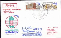 DDR GDR RDA - Umschlag Frühjahrsmesse (MiNr: U6 1-87 Alt: C1) 1987 - Siehe Scan - Privatumschläge - Gebraucht