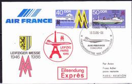 DDR GDR RDA - Umschlag Leipziger Messe (MiNr: U4 1-86 Alt: C1) 1986 - Siehe Scan - Privatumschläge - Gebraucht