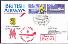 DDR GDR RDA - Umschlag Leipziger Messe (MiNr: U4 3-86 Alt: C3) 1986 - Siehe Scan - Privatumschläge - Gebraucht