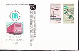 DDR GDR RDA - Umschlag Eisenbahnwesen (MiNr: U3 1a-85 Alt: C1a) 1985 - Siehe Scan - Privatumschläge - Gebraucht