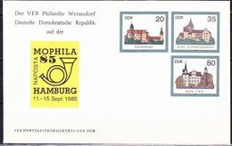 DDR GDR RDA - Umschlag Burgenen (MiNr: U2 1a-85 Alt: C1a) 1985 - Siehe Scan - Privatumschläge - Gebraucht