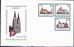 DDR GDR RDA - Umschlag Burgen (MiNr: U2 2a-85 Alt: C2a) 1985 - Siehe Scan - Privatumschläge - Gebraucht