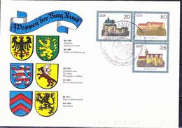 DDR GDR RDA - Umschlag Burgen (MiNr: U1 1-85 Alt: C3) 1985 - Siehe Scan - Privatumschläge - Gebraucht