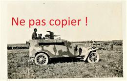 PHOTO FRANCAISE 16e DRAGONS - UNE AUTO MITRAILLEUSE A LA REVUE DE NEUVY PRES ESTERNAY MARNE - GUERRE 1914 1918 - 1914-18