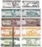 Ethiopia Set 5 Pcs. 1+5+10+50+100 Birr - Pick 46-52 UNC Random Years - Ethiopia