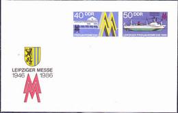 DDR GDR RDA - Umschlag  Leipziger Messe (MiNr: U 4) 1986 - Siehe Scan - Umschläge - Ungebraucht