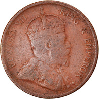 Monnaie, Straits Settlements, Edward VII, Cent, 1903, TB, Bronze, KM:19 - Malaysia