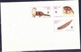DDR GDR RDA - Umschlag Fischotter (MiNr: U 7) 1987 - Siehe Scan - Umschläge - Ungebraucht