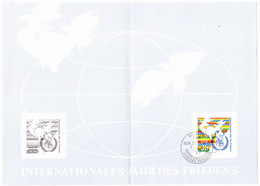 DDR GDR RDA - Jahr Des Friedens (MiNr: ETB 3/1986) 1986 - Siehe Scan - FDC: Ersttagsblätter