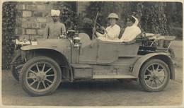 LION PEUGEOT V2C3 1911 INDE INDIA DELHI 1922 CARTE PHOTO RPPC MOTER CAR COCHES Bryan Goodman Collection - Turismo