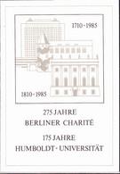 DDR GDR RDA - Humboldt-Uni/Charité (MiNr: ETB 2/1985) 1985 - Siehe Scan - FDC: Panes