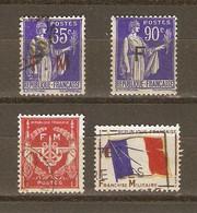 France - Petit Lot De 4 Timbres F.M. Dont N°10 MNH - Franchise Stamps