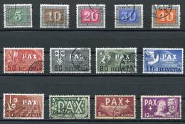Pax Satz SBK Nr. 262-274 (Mi Nr. 447-459) Gestempelt - Katalogpreis Fr. 800.- - Used Stamps
